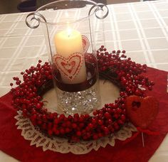 Candles, flowers, chocolates, and plenty of shiny things. Make the centerpiece for your Valentines Day table real easy and very effective. Here are some of the best ideas for you.
