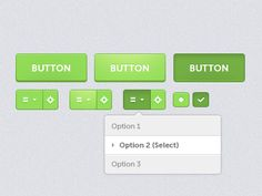 Here is a UI kit built for an upcoming project. All feedback welcome please!    Buttons: Stock -> Hover -> Pressed    thanks!