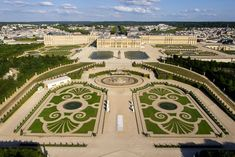 Referred to as a palace and chateau, the Palace of Versailles is one of the most beautiful and stunning buildings in the Paris area. Palace Of Versailles France, Chateau Versailles, Landscape Plans, Urban Landscape, Hotel Victoria, Famous Castles, Castle House, Louis Xvi, Aerial View