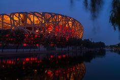 National Stadium,Chaoyang District,Beijing,China from Hobobe.com National Stadium, Beijing China, Sydney Harbour Bridge, Travel, Viajes, Traveling, Trips, Tourism