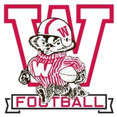 Wisconsin Badgers Bucky Outline Logo Wisconsin Collage Football And Wisconsin Badgers Football