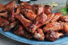Grilled Raspberry Sriracha Wings- Smoky, spicy, sweet and incredibly ...