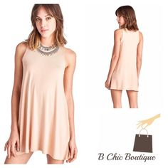 Blush Essential Everyday Dress Perfect dress for day or night. A wardrobe essential. Light weight and soft. 95% Rayon | 5% spandex. Pastel April Spirit Dresses