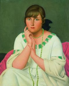 "Théophile Robert 1879- 1954 /""Jeune fille au collier vert ""(1917)"