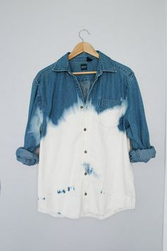 Bleached jean button up