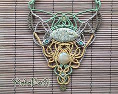 Macramè necklace Bohemian soul with by MahakashiCreations on Etsy