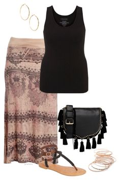 """""""Boredom is dangerous- plus size"""" by gchamama ❤ liked on Polyvore featuring Poliana Plus, maurices, TIARA, Rebecca Minkoff, GUESS by Marciano and Red Camel"""