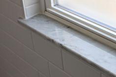 25 trendy bathroom window sill ideas home Bathroom Window Sill Ideas, Marble Window Sill, Window Ledge Decor, Kitchen Window Sill, Window In Shower, Bathroom Windows, Bathroom Ideas, Basement Bathroom, Window Jamb