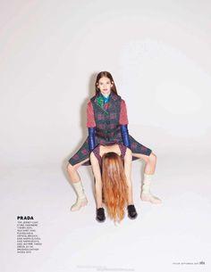 """Dreaming of Dior: """"Miss Shapes"""" by Rebekka Ehlers for Tatler UK September 2015"""