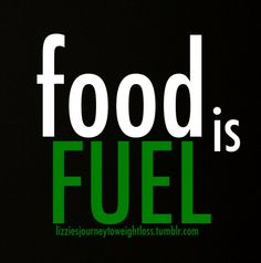 Food is fuel. It's not your enemy! eat to live, not live to eat!