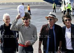 The Rolling Stones arrive in Havana, Cuba - 24 Mar 2016  The Rolling Stones - Charlie Watts, Mick Jagger, Keith Richards and Ronnie Wood 24 Mar 201