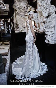 Bianca Balti étourdit dans les robes de mariée pour Alessandro Angelozzi Couture 2015 Tir nuptiale