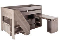 conforama lit sur lev combin castello coloris rable blanc 680 code article. Black Bedroom Furniture Sets. Home Design Ideas
