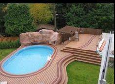 Above ground pool landscape idea