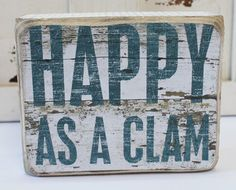 This cute saying brings a bit of the beach home to you with this wood box sign that is a fun accent piece and can freestand or hang for wall display.