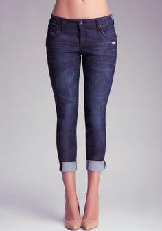 Dark & Stormy Boyfriend Jeans $99.99 #bebe.com