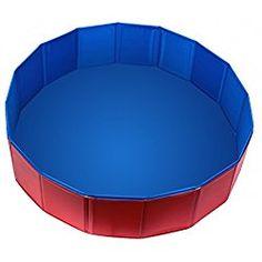 """Foldable PVC Dog Swimming Pool Bathing Tub Bathtub Dog Cats (31.5""""x7.87"""",Blue)"""