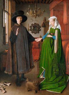 Titre de l'image : Jan van Eyck - Le mariage de Giovanni Arnolfini