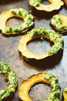 Winter Squash Wreaths (vegan, gluten-free) via Food by Mars