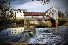 A print of the Old Mill in Falls of Rough Kentucky by DanBroman, $19.99
