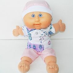 Cabbage Patch KIDS 14 inch doll clothes handmade Pink Heart and Flower Shorts Outfit Cabbage Patch Kids Dolls, Flower Shorts, Handmade Flowers, Short Outfits, Kids Girls, Doll Clothes, Projects To Try, Children, Heart