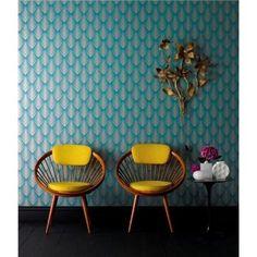 Soprano Teal wallpaper pattern