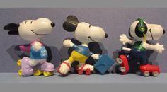 Snoopy on roller skates PVC Easter basket! Briefcase headphones
