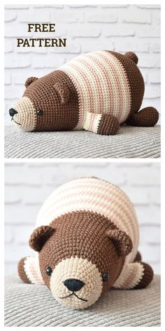 Naptime Bear Free Crochet Patterns Lying Bear Free Crochet Pattern This c. Naptime Bear Free Crochet Patterns Lying Bear Free Crochet Pattern This cute little lazybones looks like he just . Crochet For Beginners, Sewing For Beginners, Beginner Crochet, Beginner Knitting, Knitting Videos, Easy Knitting, Crochet Patterns Amigurumi, Crochet Dolls, Crocheting Patterns
