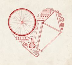 Love Bike Art Print Visit us @ http://www.wocycling.com/ for the best online cycling store.