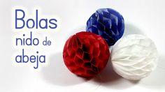 Manualidades: BOLAS (pompones) de Nido de Abeja para DECORAR - Innova Ma...