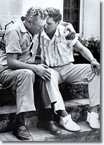Elvis and Father grieving over the death over Elvis mother. Such anguish & loss! :(