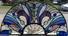Half-Round Stained Glass Panel ...