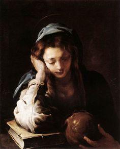 FETTI, Domenico The Repentant St Mary Magdalene 1617-21 Oil on canvas, 98 x 78,5 cm Galleria Doria Pamphilj, Rome