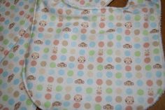 Boutique Baby Bib and Burp Cloth Gift Set for Boy or Girl Zoo Animals Monkey, Giraffe, Lion and Blue, Green & Peach Dots by PurpleLadybugGifts on Etsy
