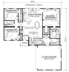Ranch Style House Plan - 3 Beds 2 Baths 1445 Sq/Ft Plan #137-269 Floor Plan - Main Floor Plan - Houseplans.com