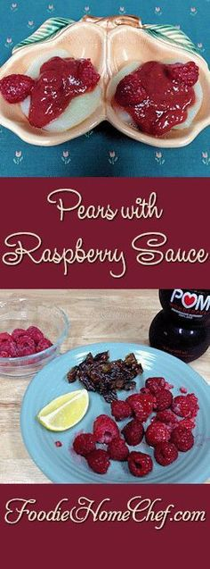 Pears with Raspberry Sauce - This tastes totally decadent, like something you'd eat in an expensive restaurant, yet it's healthy & easy to make. It makes a wonderful breakfast, anytime snack or healthy dessert. --------- #Food #Cooking #Recipes #Recipe #Cuisine #GreatFood #HomeCooking #Fruit #FruitRecipes #Pears #PearRecipes #Raspberry #RaspberryRecipes #RaspberrySauce #Breakfast #Snack #Dessert #HealthyDessert #HealthyRecipes