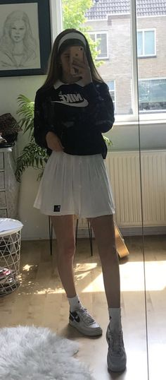 Indie Outfits, Teen Fashion Outfits, Retro Outfits, Cute Casual Outfits, Look Fashion, Stylish Outfits, Vintage Outfits, Skirt Fashion, Indie Clothes