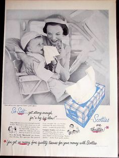 1952+mom+&+baby+Scotties+Tissues+vintage+ad
