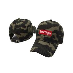 Savage Box Logo Embroidered Dad Hat (Army Green)