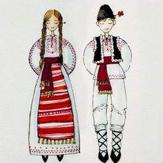 Art Costume, Folk Costume, Disney Drawings, Art Drawings, Greek Crafts, Fall Clip Art, Foto Transfer, Traditional Paint, Sketch Inspiration