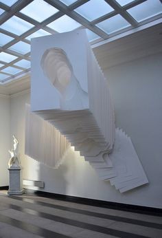 """Gorgeous work by German sculptor, Angela Glajcar. Her latest work features reams of layered and torn white paper, which create a captivating tunnelling effect. """"Weiss Ist Das Neue Schwarz"""" (or """"White is the New Black"""") is on view at the Heitsch Gallery … Continue reading →"""