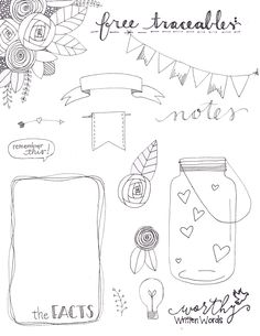 FREEBIE: Traceable Art Doodles