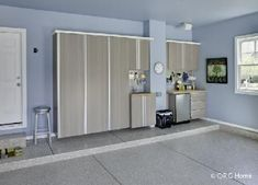 Nice, clean functional space for all your storage needs