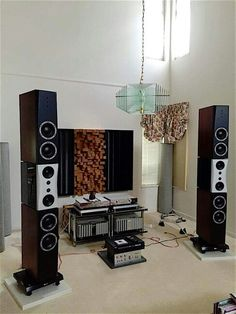 Dynaudio Evidence Temptation speakers driven by a full Burmester electronic setup.