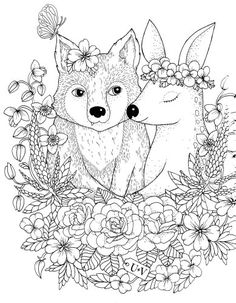 Coloring Books for Adults :: Blomstermandala