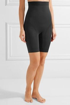 Yummie by Heather Thomson - Kara High-rise Stretch-jersey Shorts - Black - x small