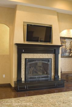 Fireplace Design Ideas With Tile glass tile fireplace design pictures remodel decor and ideas Kitchen Fireplaces Design Pictures Remodel Decor And Ideas