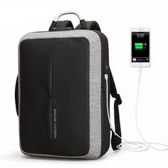 9e52db58094 Mark Ryden New Anti-thief USB Recharging Polyester Backpack Business Mode