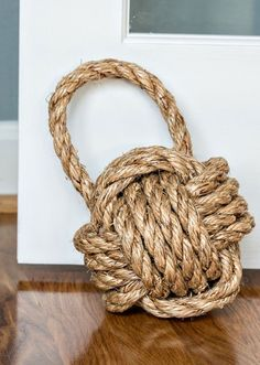 Hold the door with a nautical knot doorstop. #EtsyFinds