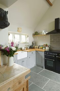Gorgeous kitchen, fitting in beautifully with the house's existing features.